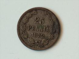 FINLANDE 25 PENNIA 1872 - Finlande