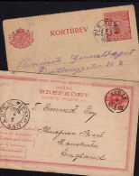 E0163 SWEDEN, 2 @ Postcards With TPO (PLK & PKXP) Franks - Covers & Documents