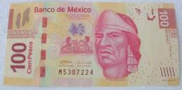 Empereur Aztèque Nézahualcoyotl (nouveau Billet 100 Pesos Année 2009)  Format Reduit  134 X 67 Mm - Mexique