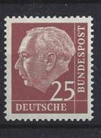 Germany (BRD) 1954-60  Theodor Heuss  (**) MNH  Mi.186 X - [7] République Fédérale