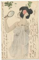 Kirchner Femme Au Miroir  Voyagé La Voulte 1901 M.M. Vienne - Kirchner, Raphael