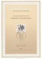 BRD / First Day Sheet (1987/13) 5300 Bonn 1: Dieterich Buxtehude (1637-1707) Danish-German Organist And Composer - Celebrità