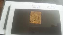 LOT 217579 TIMBRE DE COLONIE COTE IVOIRE OBLITERE N�12 VALEUR 34 EUROS