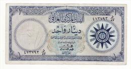 IRAQ   billet de 1 dinar
