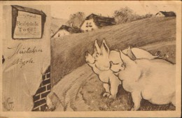 Postcard  Circulated In 1915  - Humour -Joy :- Meatless Days(Fleischlose Tage!) - Ilustrator: Signed W.ST. - 2/scans - Other Illustrators