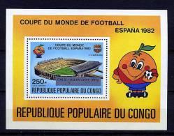 Rep. Congo ** Bloc N° 32 - Résultats De La Coupe Du Monde De Foot - Ongebruikt
