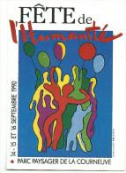 F�te de l' Humanit�, septembre 1990, post�e de la f�te de l'humanit�, cpm, tbe , 2 scans
