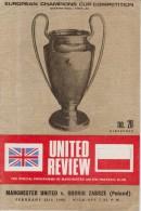 Official Football Programme MANCHESTER UNITED - GORNIK ZABRZE European Cup ( Pre - Champions League ) 1968 Quarter Final - Abbigliamento, Souvenirs & Varie