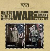 CANOUAN Of ST.VINCENT ; SCOTT # ; IGPC 1406 S ; MINT N H STAMPS (  WORLD WAR I - St.Vincent & Grenadines