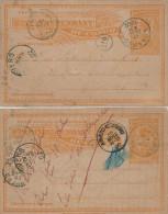 554/22 - Deux Entiers Postaux CONGO BELGE KABINDA via LUSAMBO 1902 vers ANVERS - 1 R�exp�di�