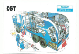 C.G.T .Clamart, Schlumberger, Cpm De Protestation Contre Les Licenciements, 2 Scans - Gewerkschaften