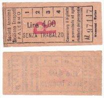 Biglietto Tramviario Palermo Anni 50 Tram Tramway Tramvia Tranvia Ticket