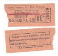 Biglietto Tramviario ROMA STEFER Anni 30 Tram Tramway Bus Ticket