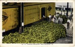 Loading Bananas - New Orleans (petite Déchirure Sur Le Coté Supérieur Gauche De La Carte) - New Orleans