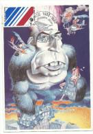Les belles Bobines par Jean Michel Renault , carte maximum, 18 juin 1983 , Fran�ois Miterrand, Yvon,