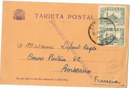 LMM12 - ESPAGNE CENSURA MILITAR ZARAGOZA SUR CARTE POSTALE MARS 1937 - Marcas De Censura Nacional