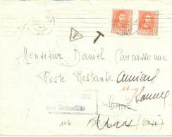 LMM12 - ESPAGNE CENSURA MILITARSAN SEBASTIAN SUR LETTRE JUIN 1938 TAXEE EN POSTE RESTANTE - Marcas De Censura Nacional