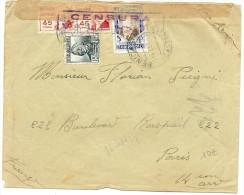 LMM12 - ESPAGNE CENSURA MILITAR VALENCIA SUR LETTRE SEPTEMBRE 1937 - Marcas De Censura Nacional