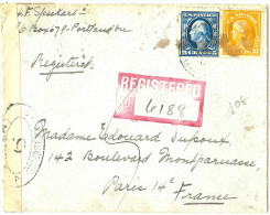 LMM12 - ETATS UNIS LETTRE RECOMMANDEE PORTLAND / PARIS NOVEMBRE 1916 - Etats-Unis