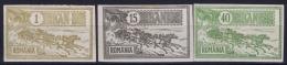 Romenia, 1903 Mi 146+150+152  Non Perforated, MH/* - 1881-1918: Carol I