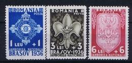 Romenia, 1936 Mi 516 - 518 , Yv  505 - 507 MH/* - 1918-1948 Ferdinand, Carol II & Michael