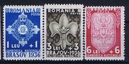 Romenia, 1936 Mi 516 - 518 , Yv  505 - 507 MNH/** - 1918-1948 Ferdinand, Carol II & Michael