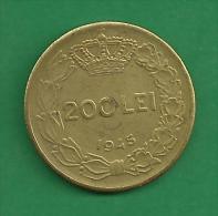 = ROMANIA - 200 LEI  - 1945   # 134 = - Roumanie