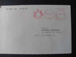 AFFRANCATURE MECCANICHE ROSSE-LEUCOS  17.12.1991 SCOZE' (VE) - Affrancature Meccaniche Rosse (EMA)
