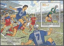 Belgique 1998 COB Bloc Feuillet 76 Neuf ** Cote (2016) 2.50 Euro Championnat Du Monde De Football En France - Blokken 1962-....