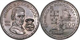 """PORTUGAL 200 ESCUDOS Cu-Ni 1.994 KM#670  SC/UNC  """"HENRIQUE O NAVEGADOR""""    T-DL-11.029 - Portogallo"""