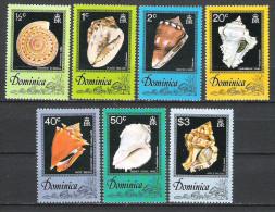 Dominica 1976 Shells MNH CV �2.40