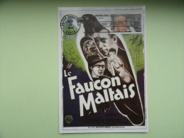 CARTE MAXIMUM MAXIMUM CARD HUMPHREY BOGARD DANS LE FAUCON MALTAIS USA - Film