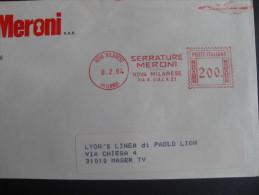 AFFRANCATURE MECCANICHE ROSSE- SERRATURE MERONI 08.02.1984 NOVA MILANESE (MI) - Affrancature Meccaniche Rosse (EMA)