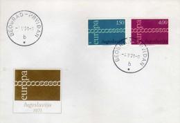 FDC EUROPA CEPT 1971,Yugoslavia,postmark Belgrade First Day - Europa-CEPT