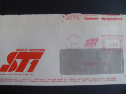 AFFRANCATURE MECCANICHE ROSSE- SOCIETA' SPEDIZIONI ST1 05.03.1984 TRENTO - Affrancature Meccaniche Rosse (EMA)