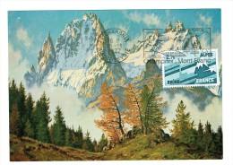 MAXIMUM CARD FRANCE  ALPES RHÔNE CHAMONIX MONTBLANC 1977 - Aardrijkskunde