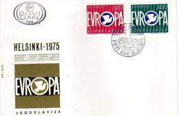 FDC EUROPA 1975 - Helsinki Finland,Yugoslavia, - 1976