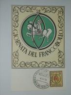 ITALY 1966 POSTCARD GIORNATA DEL FRANCOBOLLO - Otros