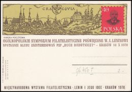 """Poland 1970, Postal Stationery """"International WF """"Lenin And His Iee"""""""" Cp 460, Mint - Stamped Stationery"""
