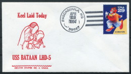 1994 USA Navy Pascagoula Keel Laid Ship Cover USS BATAAN LHD 5 - United States