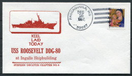 1997 US Navy Pascagoula Keel Laid Ship Cover USS ROOSEVELT DDG 80 - United States