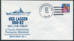 1998 US Navy Pascagoula Keel Laid Ship Cover USS LASSEN DDG 82 - United States