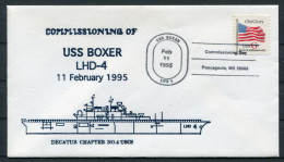 1995 US Navy Ship Cover USS BOXER LHD 4 - United States