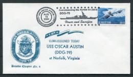 2000 US Navy Ship Cover USS OSCAR AUSTIN DDG 79 - United States