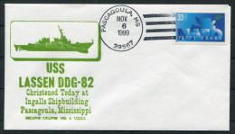 1999 USA Pascagoula Navy Ship Cover USS LASSEN DDG 82 - United States