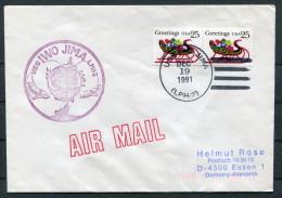 1991 USA Navy Ship Cover USS IWO JIMA LPH 2 - United States