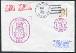 1992 USA Navy Ship Cover USS WASP LHD 1 - United States