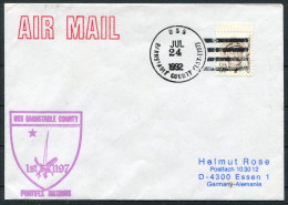 1992 USA Navy Ship Cover USS BARNSTABLE COUNTY - United States