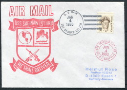 1993 USA Navy Ship Cover USS SAGINAW LST 1188 - United States