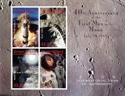 UNION ISL. Of ST.VINCENT ; SCOTT # ; IGPC 0908 SH ; MINT N H STAMPS (  SPACE EXPLORATION - St.Vincent & Grenadines